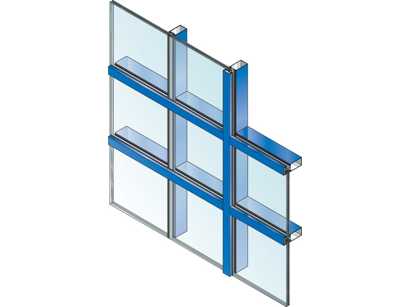 "System 5600 2 1/4"" Impact - Blast / DoD, 6"" Curtain Wall System"